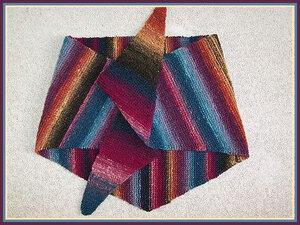 Бактус - треугольный шарф-косынка. Наши воплощения