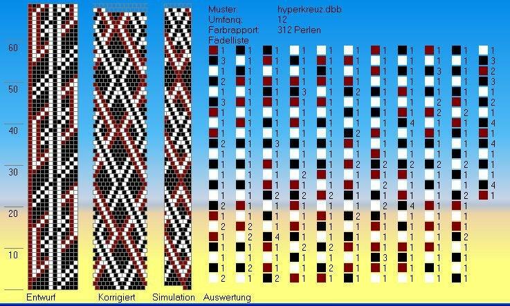 Схема вязанного жгута.