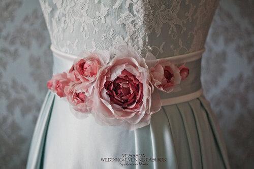 Как украсить пояс платья своими руками фото