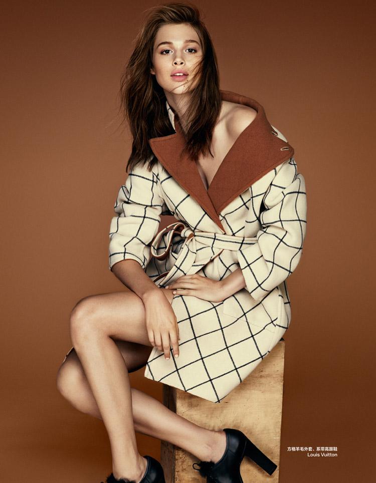 Анаис Пулье в журнале Harper's Bazaar Chin