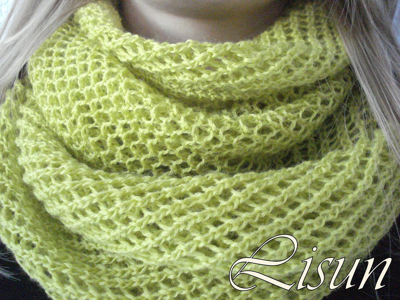 Вязание шарфа спицами узор сетка