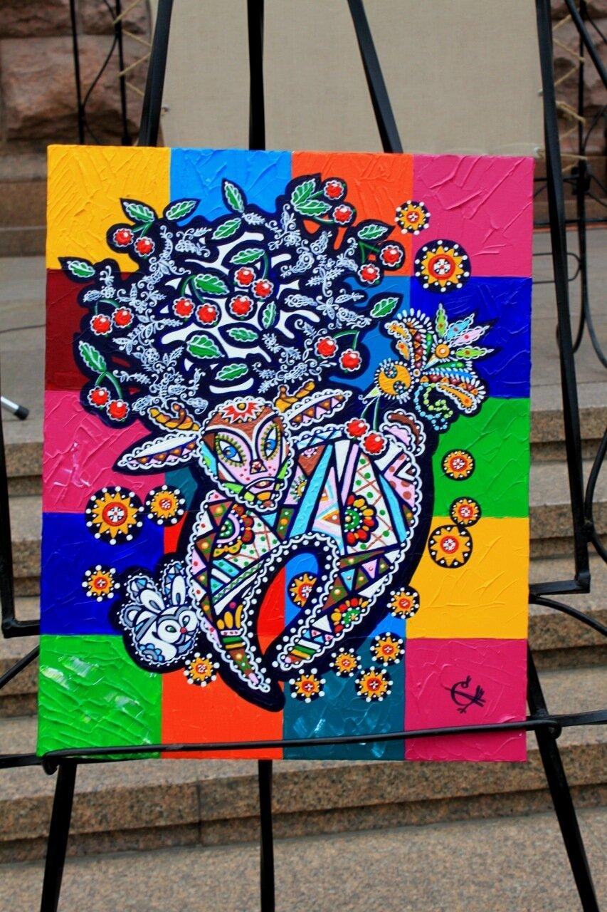 Ягненок картина живопись