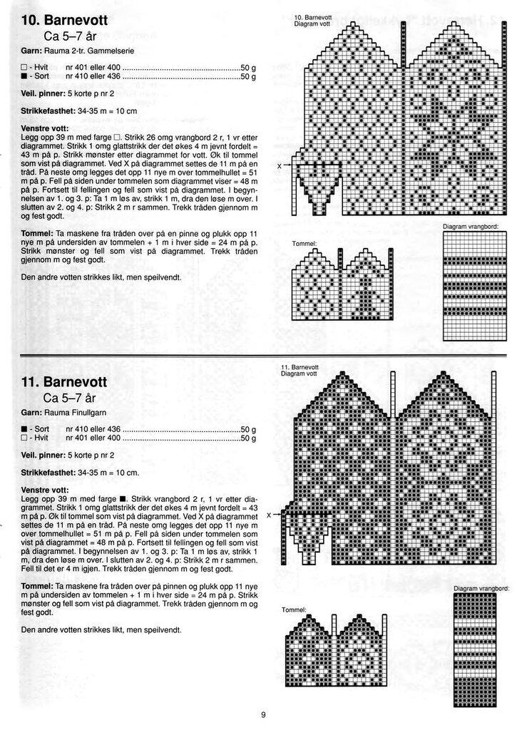 Дизайн - вязание спицами - варежки и носки с норвежскими узо.