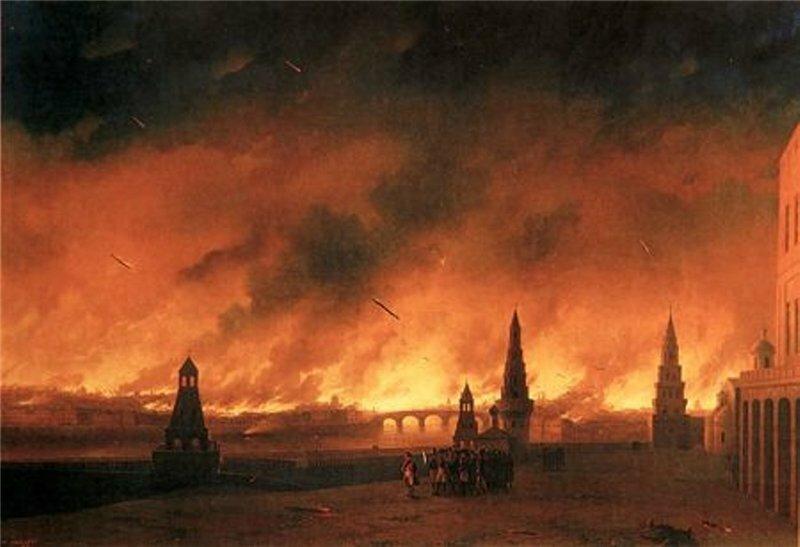 Иван Айвазовский Пожар Москвы в 1812 г.