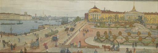 Мстислав Добужинский  (1875-1957). Панорама СПб.