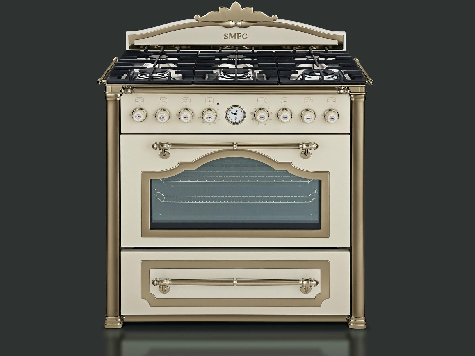 красивые кухонные плиты в ретро стиле SMEG Краснодар