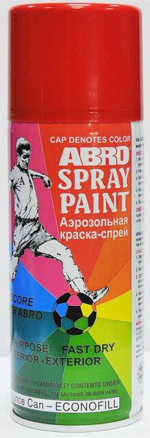 Краска спрей красная А-073 Abro