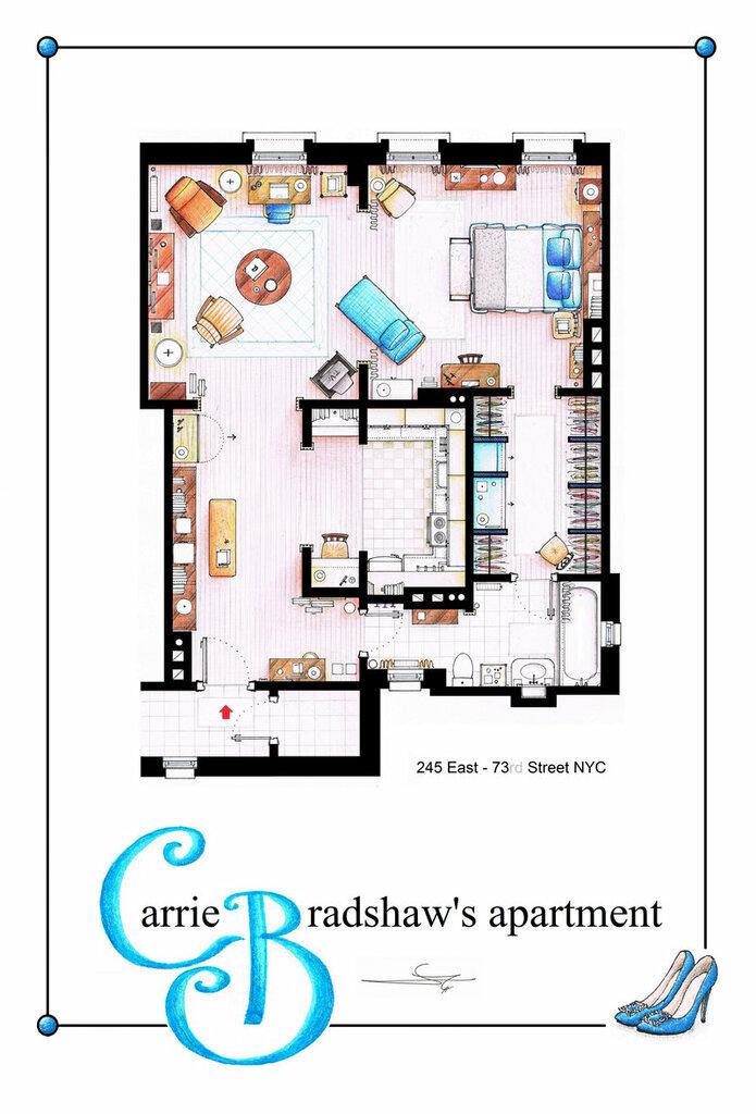 Планы квартир из телесериалов
