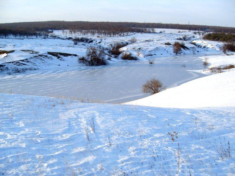 Наше местное озеро зимой