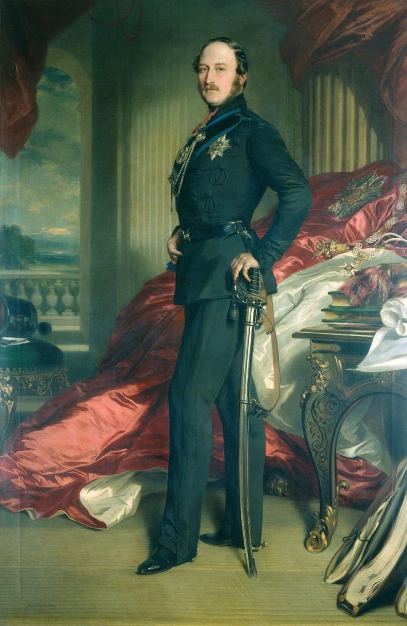 Принц Альберт, принц-консорт (1819-1861)  Подпись и дата 1 859