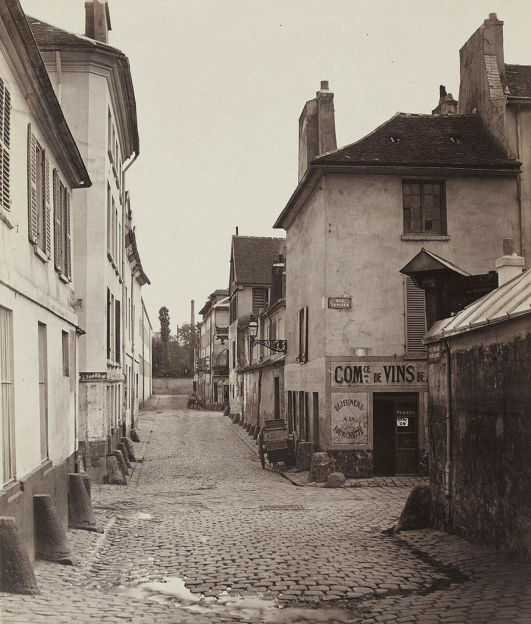 1865-1868. Рю Пон-а-Биш, вид с рю Нотр-Дам