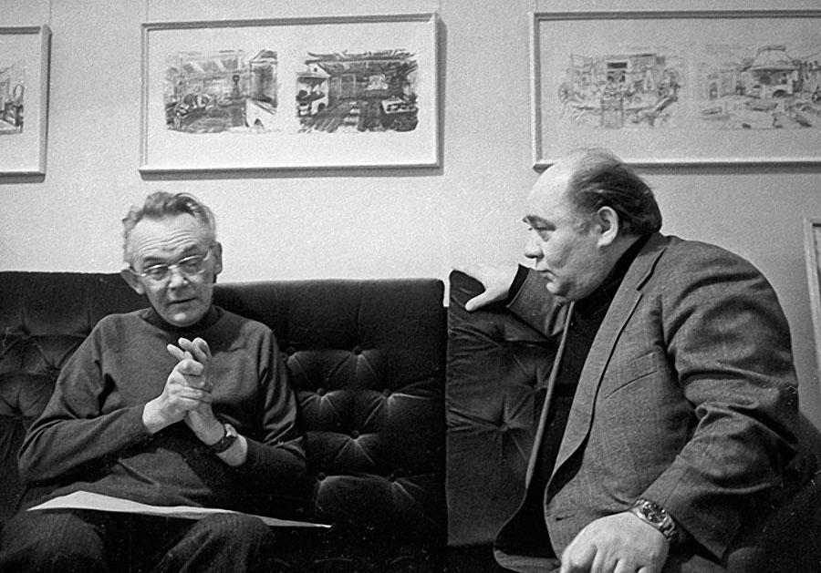 Леонид Гайдай и Евгений Леонов. 1979 год