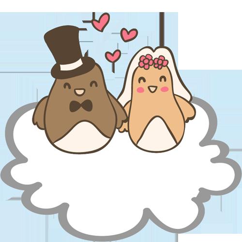 Свадебный клипарт векторный