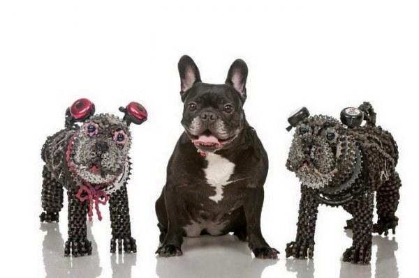 Собаки из велосипедных цепей: такого вы ещё не видели