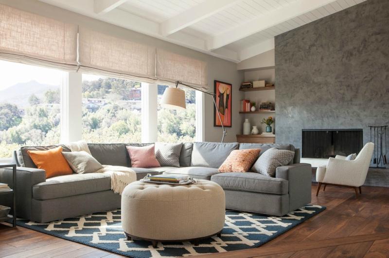 Дизайн интерьера гостиной в светлых оттенках фото 21