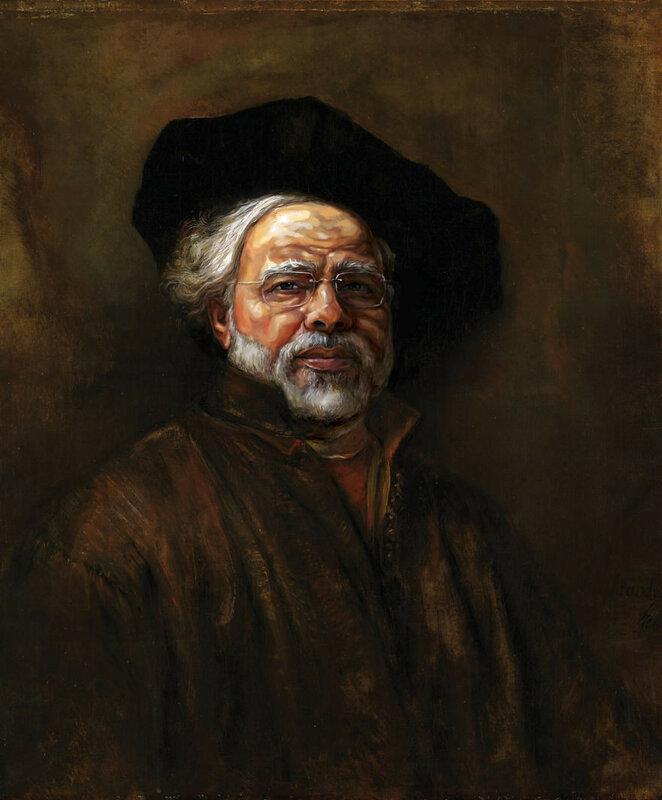 Портрет Нарендры Моди кисти Рембрандта