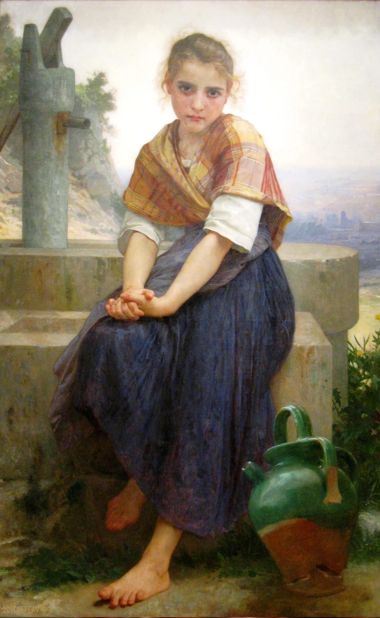 Разбитый кувшин 1891, Музей изящных искусств, Сан-Франциско Bouguereau-_The_Broken_Pitcher_(2210455309) - 1.jpg