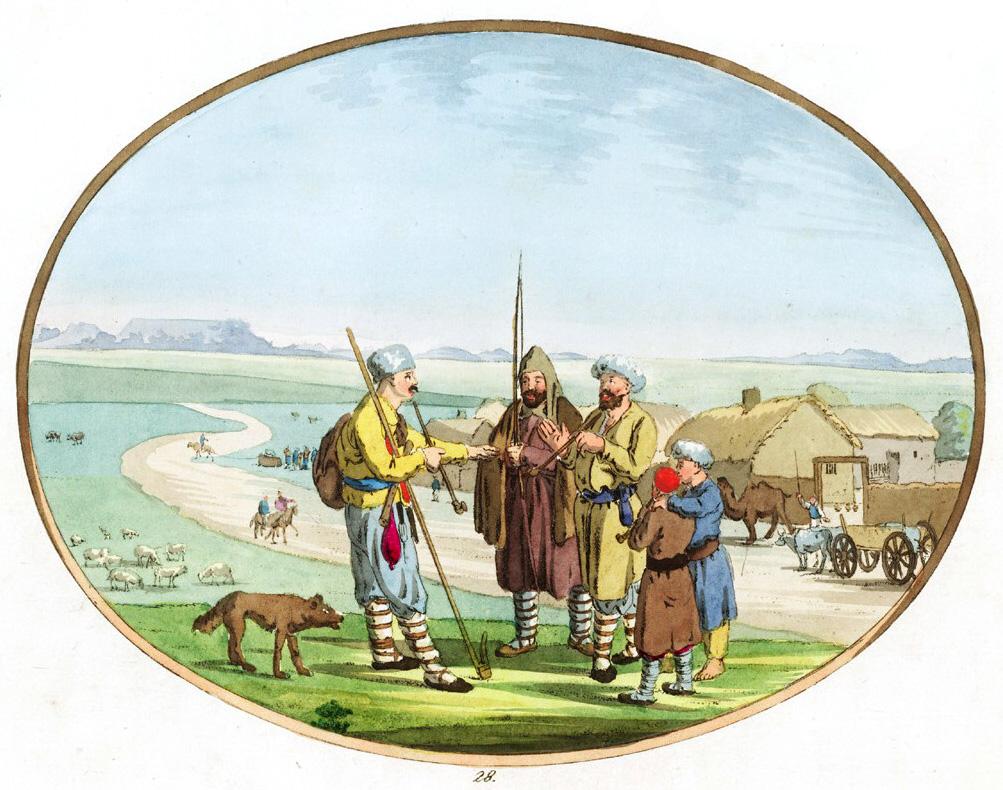 28. Чабан или татарский пастух / Der Tschapan oder tatarischer Schafer