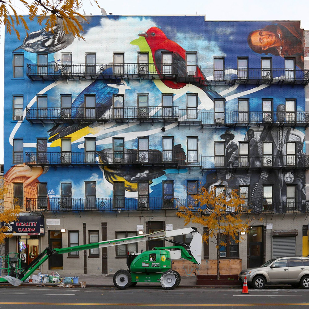 The Audubon Mural Project Attracts 314 Endangered Birds to the Facades of Manhattan (8 pics)