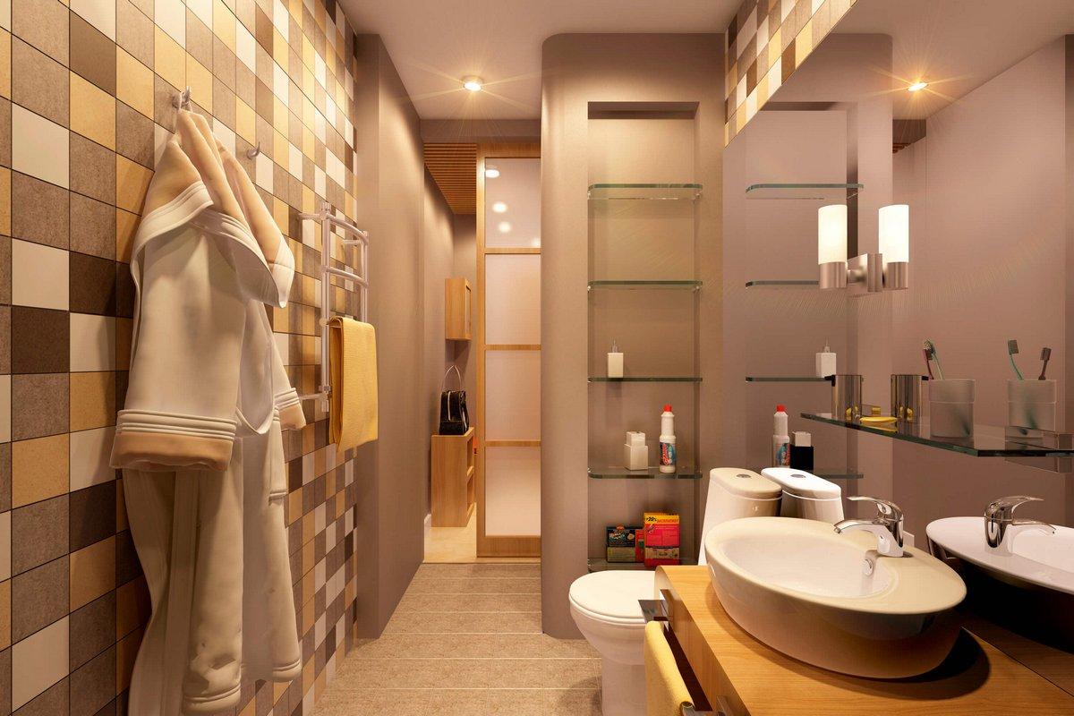 Geometrium, проекты Geometrium, дизайн маленькой квартиры, дизайн квартиры 34 метра, недорогой дизайн квартиры, яркий дизайн интерьера квартиры фото