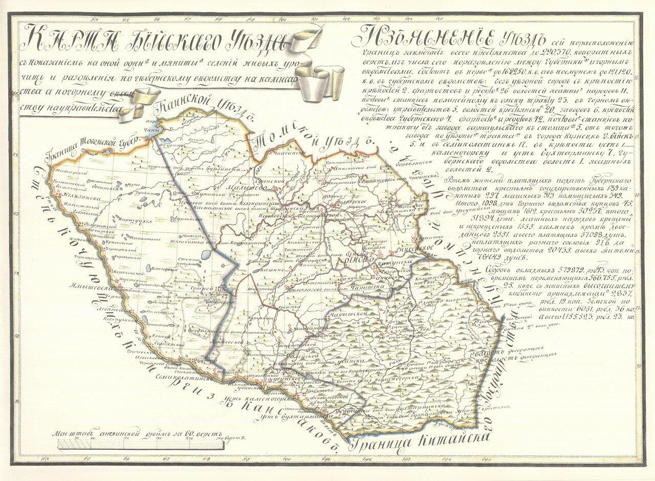 09. Карта Бийскаго Уезда