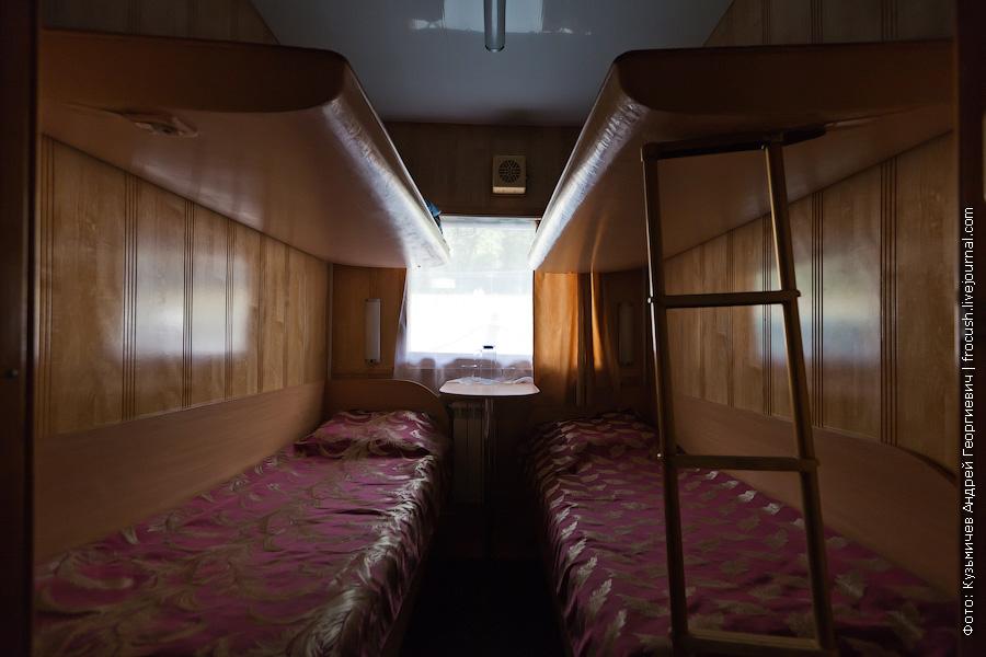 Четырехместная ярусная каюта №110 на главной палубе теплоход Иван Кулибин