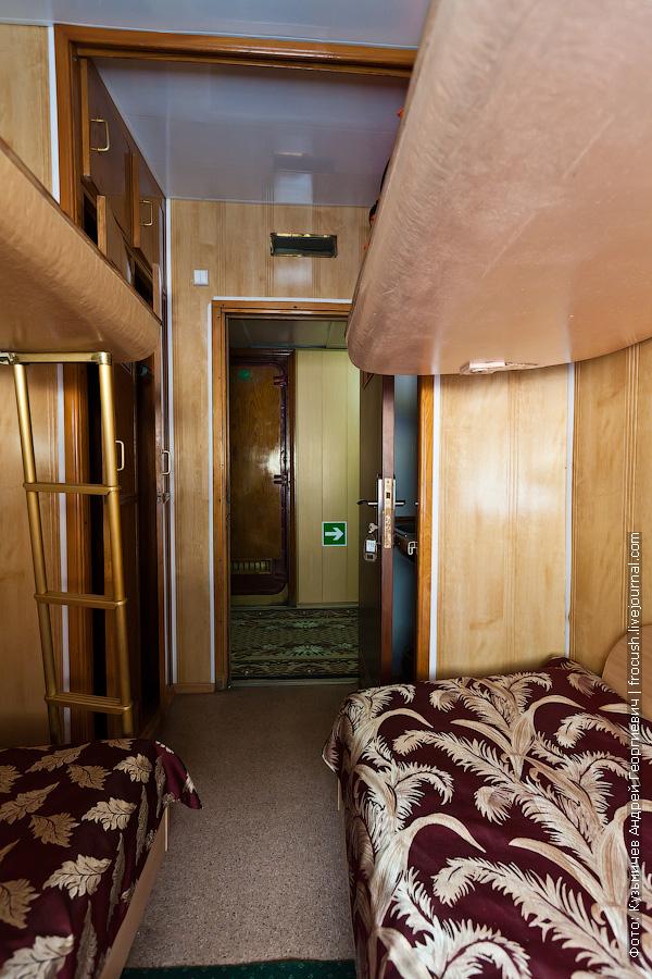 Четырехместная ярусная каюта №110 на главной палубе теплоход Кулибин