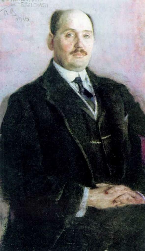 Портрет Богданова-Бельского Н.П. 1915, худ. Малютин Сергей Васильевич
