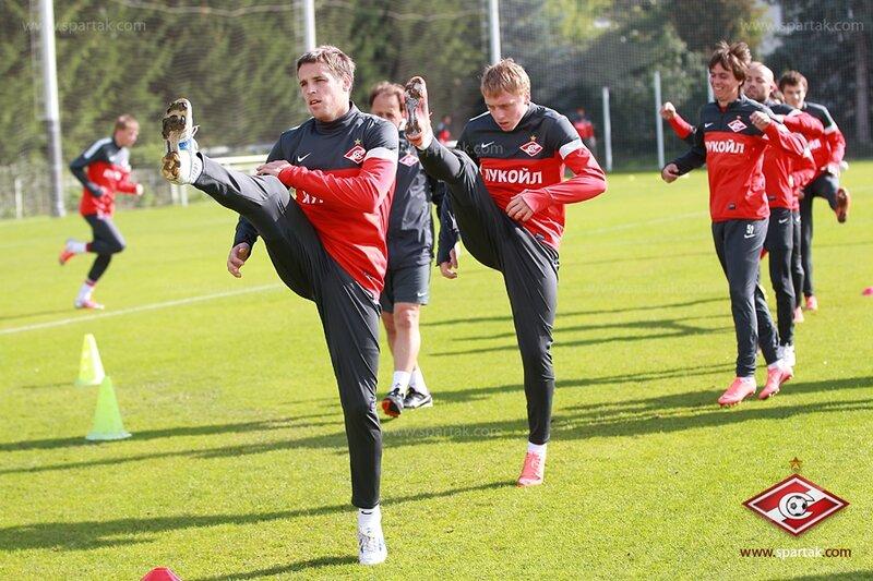 Тренировка  «Спартака»  перед матчем с  «Кубанью» (Фото)