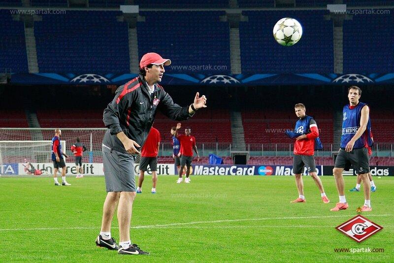 Пресс-конференция и тренировка «Спартака» перед матчем с «Барселоной» (Фото)