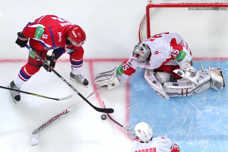 «Локомотив» vs «Спартак» 4:2 чемпионат КХЛ 2012-2013 (Фото)
