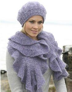 Романтика и элегантность - шарф с оборками и берет