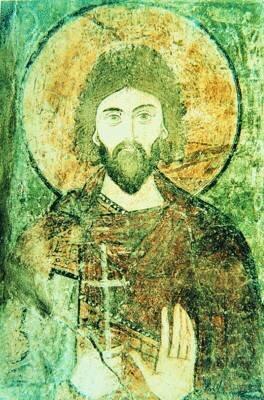 Мч. Адриан. Фреска из собора Св. Софии в Киеве. Сер. XI в.