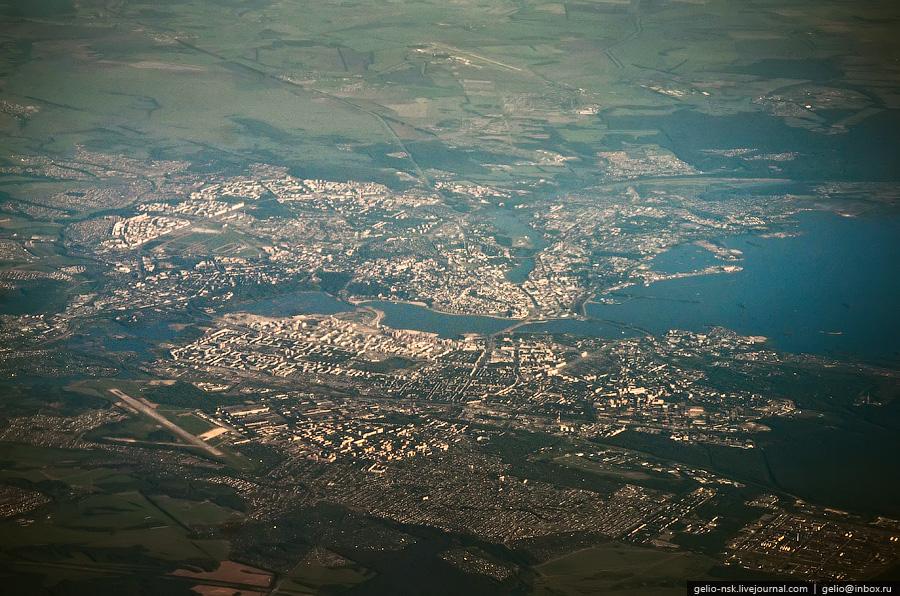 Казань. Фотографии из окна самолета