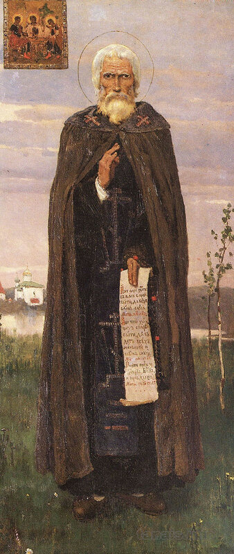 Прп. Сергий Радонежский. Икона для церкви в Абрамцево.jpg