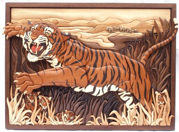 Картины из дерева (интарсия) Кэти Уайз
