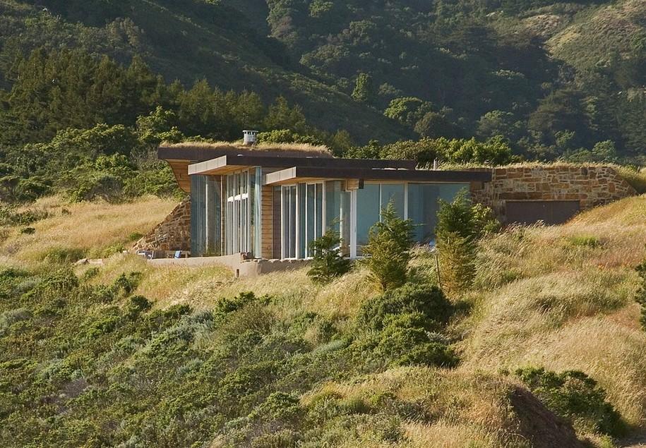 Дом под землей в Калифорнии от Carver + Schicketanz