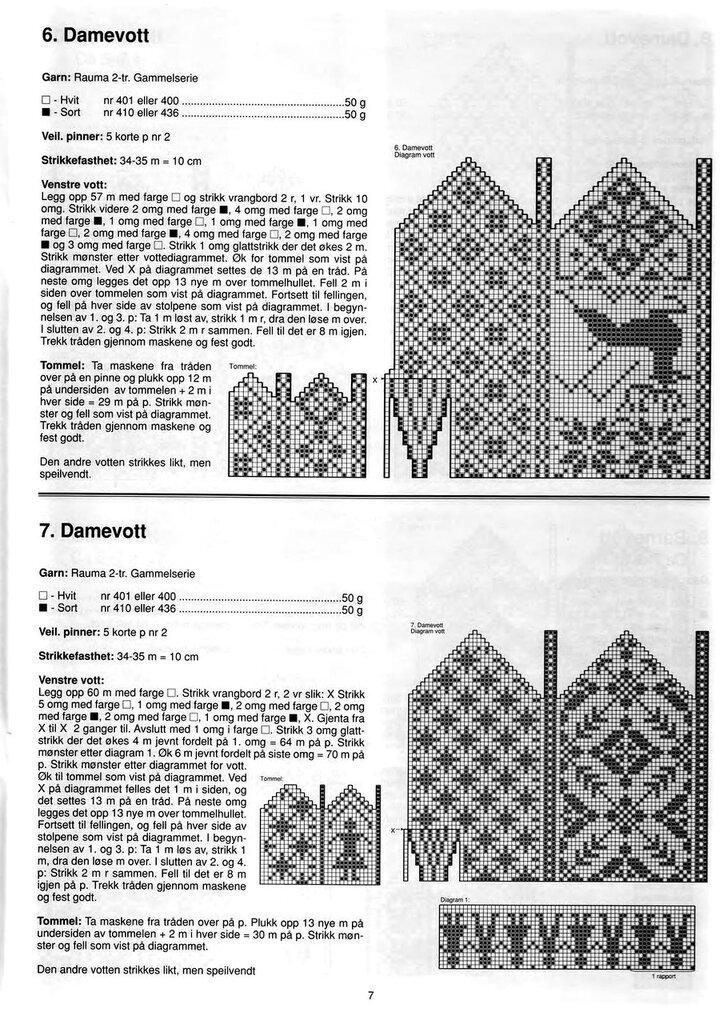 Книга представляет большую коллекцию красивых норвежских узоров.  Этими узорами украшены варежки, перчатки, носки...