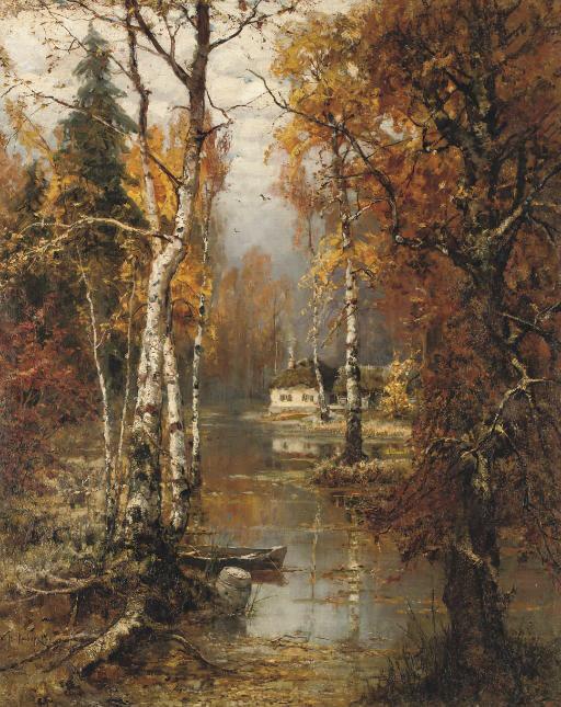 Юлий Клевер  (1882-1942). Дом в лесу.