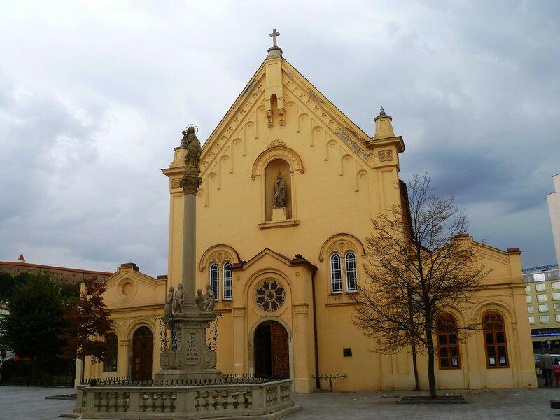Братислава, церковь капуцинов Святого Стефана (Bratislava, the Capuchin church of St. Stephen)