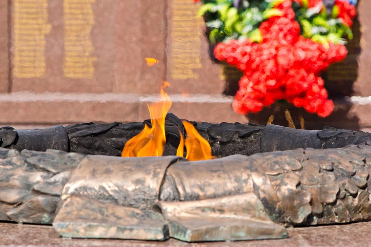 Памятник героям ВОВ и Вечный огонь