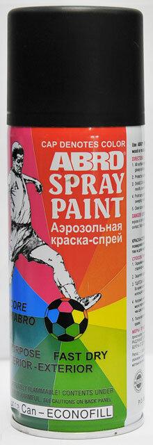 Краска спрей черная матовая А-012 Abro
