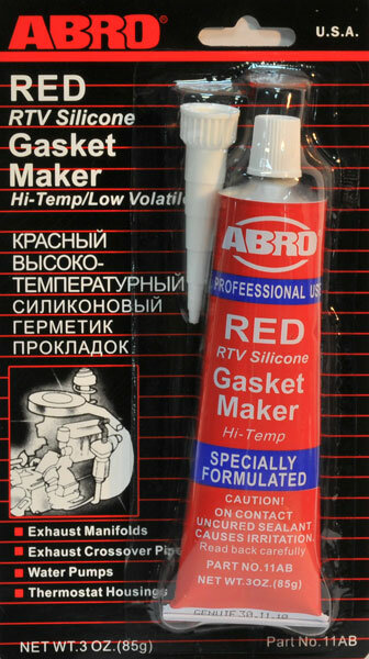 Герметик Abro красный 85 гр. (до 343°С)