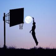 баскетбол с луной