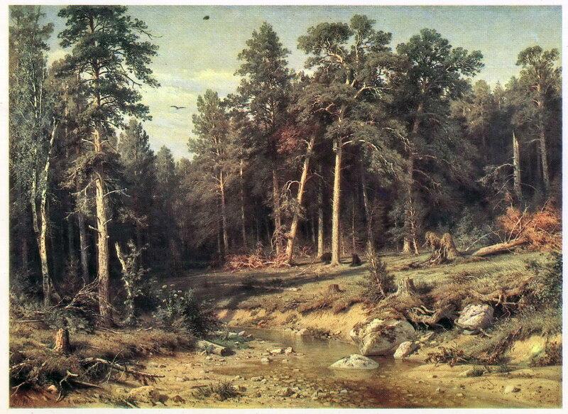 005. Шишкин 003. Сосновый бор. Мачтовый лес в Вятской губернии. 1872.