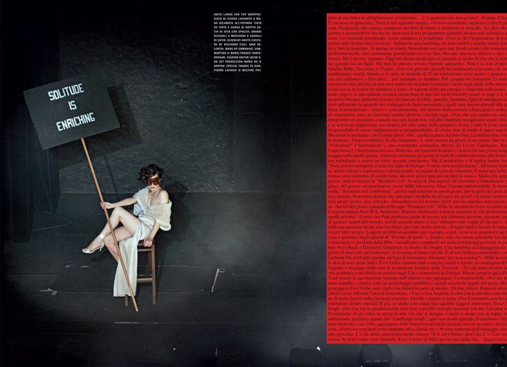 Milla Jovovich / Милла Йовович в журнале Vogue Italia, сентябрь 2012 / фотограф Peter Lindbergh