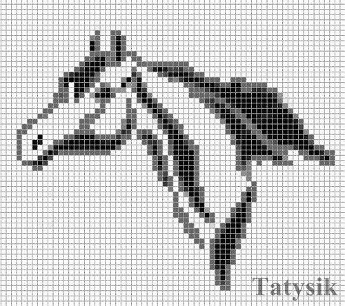 Лошади.Монохром..