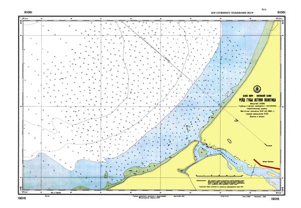Рейд губы Летняя Золотица - морские навигационные карты на lenv.ru