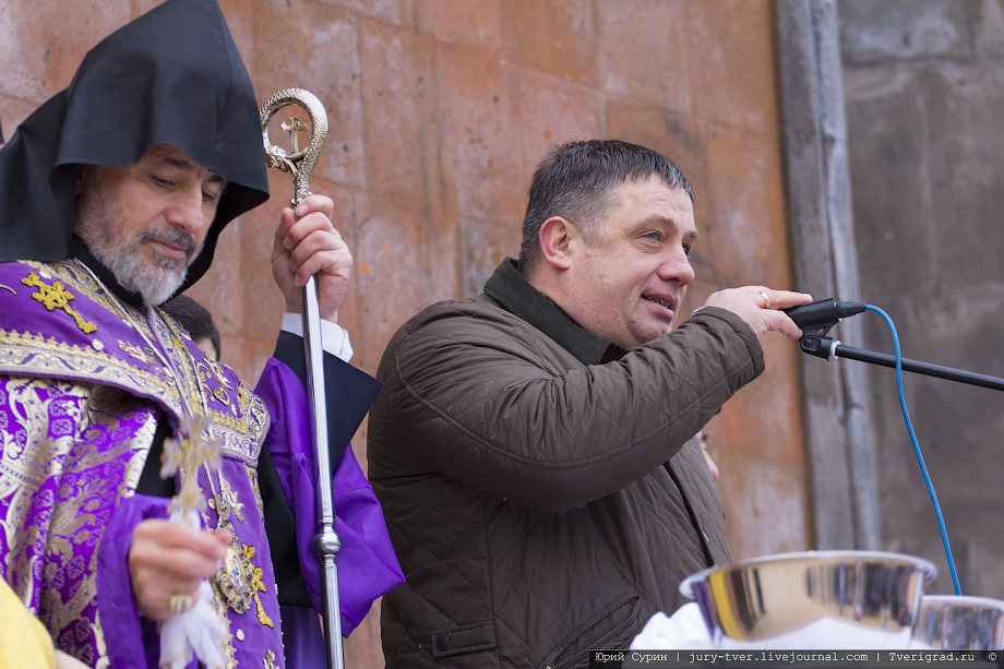 Тверь, освящения крестов Армянской Апостольской Церкви