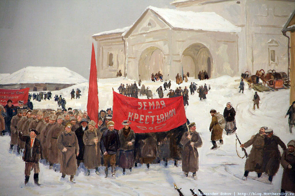 Революция 1917 в картинках, открытка пасхальная